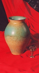Harlan House: turquoise porcelain vase